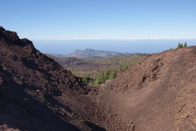 Le cratère égueulé du Samara. (Photo : André Laurenti)