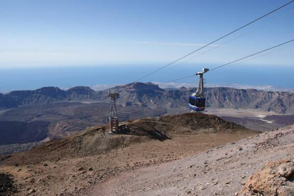 L'arrivée du téléphérique se situe a environ 200 m sous le sommet du Teide. (Photo : André Laurenti)
