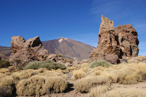 """Le Teide depuis le site des """"Roques de Garcia"""". (Photo : André Laurenti)"""