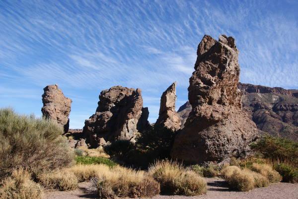 Ces monolithes de basalte sont d'anciennes cheminées volcaniques. (Photo : André Laurenti)