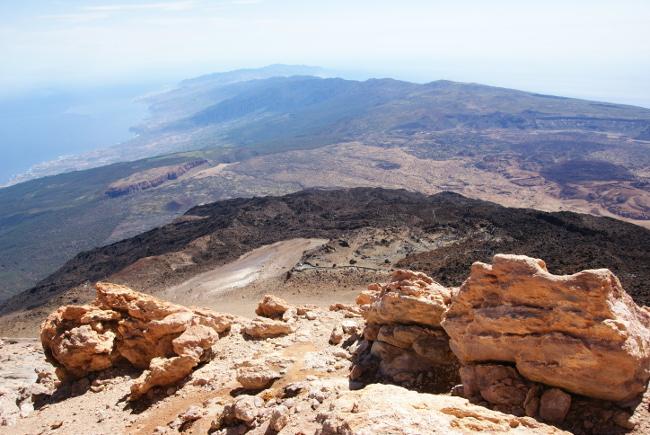 La dorsale Nord-Est de l'île vue depuis le sommet du Teide. (Photo : André Laurenti)