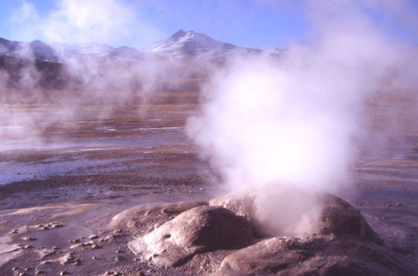 Le site géothermique d'El Tatio dans le nord du Chili à 4280 m d'altitude. (Photo : André Laurenti)