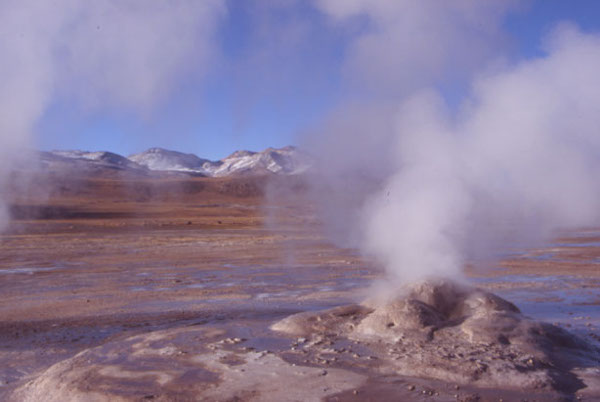Le site géothermique d'El Tatio dans le nord du Chili à 4 280 m d'altitude. (Photo : André Laurenti)