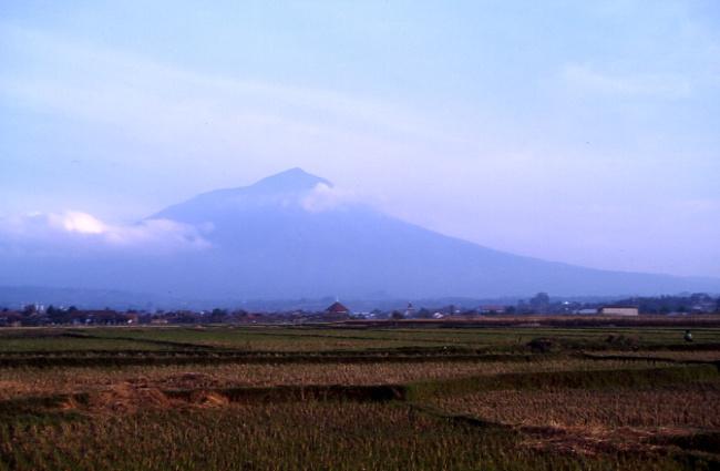 Le Gunung Cikuray impose fièrement ces 2821 mètres. (Photo : André Laurenti)