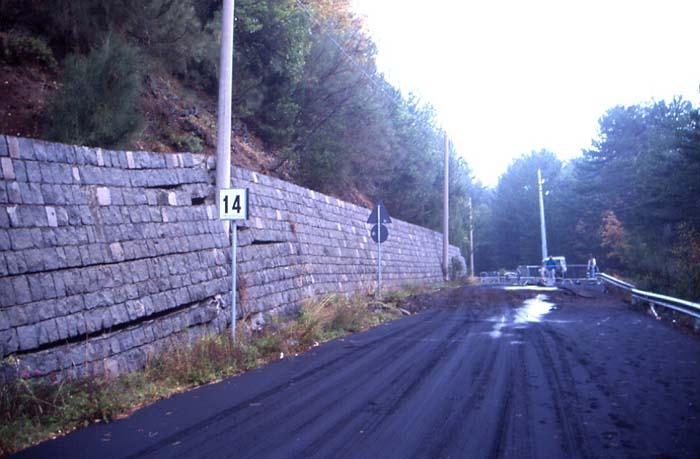 Ce mur de soutènement a été endommagé. (Photo : André Laurenti)