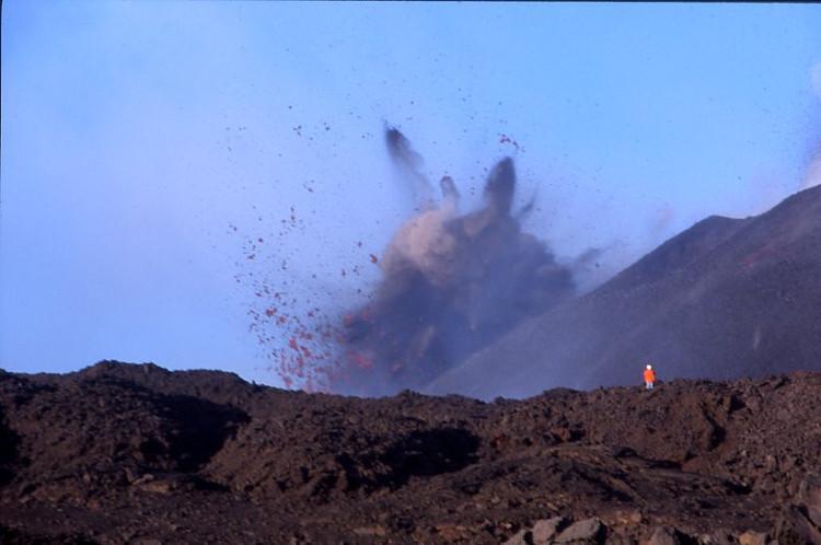 Autre activité phréatomagmatique au nord du Laghetto. (Photo : André Laurenti)