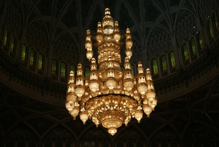 L'impressionnant lustre de 8 tonnes (Photo : André Laurenti)