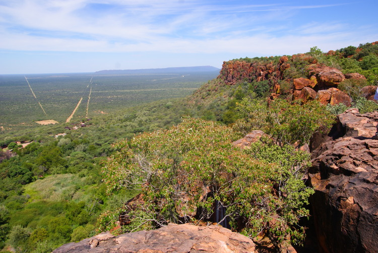 Le grés rouge du plateau de Waterberg (Photo : André Laurenti)