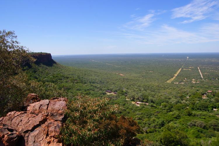 La vaste plaine du Kalahari vue depuis le plateau du Waterberg (Photo : André Laurenti) (