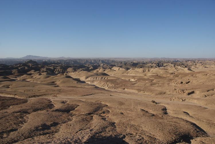 Un relief creusé par l'érosion dans les immenses plateaux (Photo : André Laurenti)