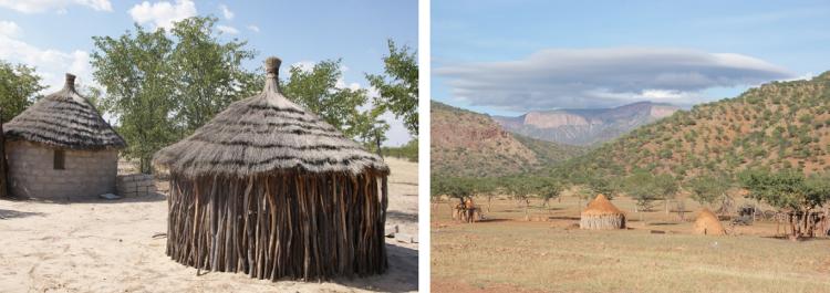 L'habitat Himbas (Photos : André Laurenti)